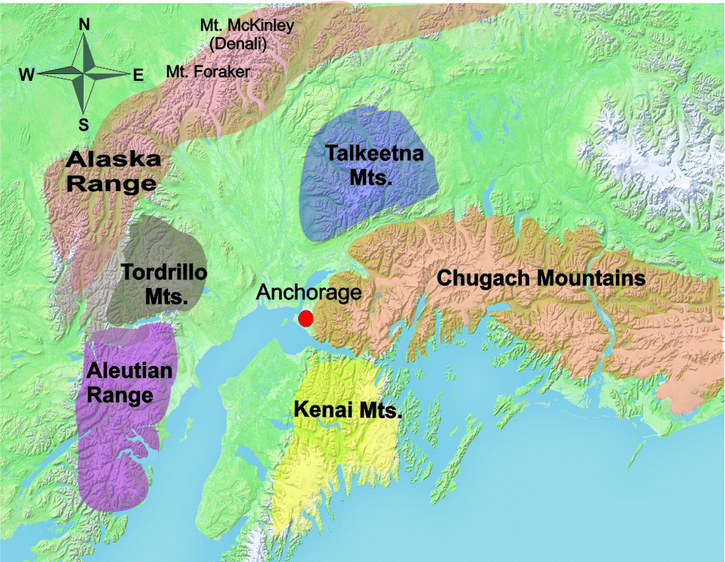 Anchorage A Municipality Situated In The Heart Of The Wilderness - Mt mckinley on us map